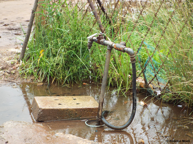One of the two taps servicing the entire community.