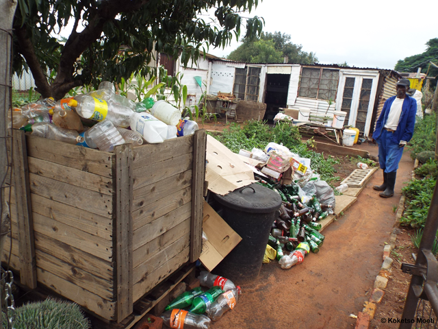 Apart from farming, recycling is another activity undertaken by this elderly resident for survival. He prides himself in the veggies on his land, as well as the amounts of recyclable material he can often collect in a single day.