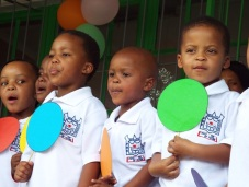 Learners at Nkhensani Pre-school in Tshwane during a performance. Photo: Koketso Moeti